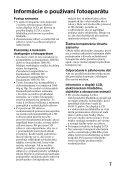 Sony SLT-A57M - SLT-A57M Consignes d'utilisation Slovaque - Page 7
