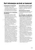 Sony SLT-A57M - SLT-A57M Consignes d'utilisation Norvégien - Page 7