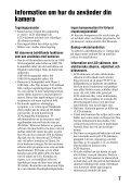 Sony SLT-A57M - SLT-A57M Consignes d'utilisation Suédois - Page 7