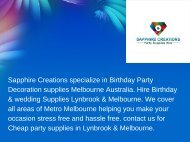 Cheap Party Supplies Melbourne