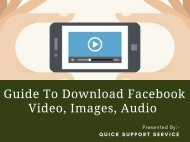 Tips To DownloadVideos, Images & Audios From the Facebook