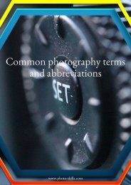 Common photography terms and abbreviations