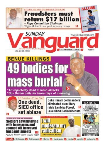 07012018 - Benue Killings : 49 bodies for mass burial