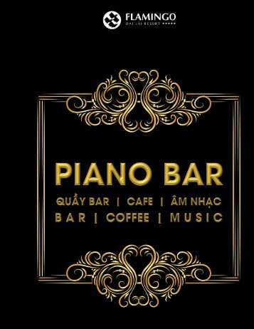 Piano Bar Beverage Menu