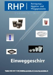 RHP-Einweggeschirr Katalog
