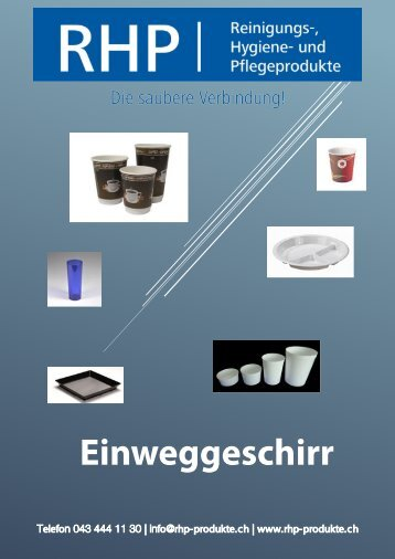 RHP-Einweggeschirr Katalog