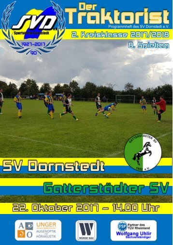 """Der Traktorist"" - 8. Spieltag 2. Saalekreisklasse 2017/2018 - SV Dornstedt vs. Gatterstädter SV"