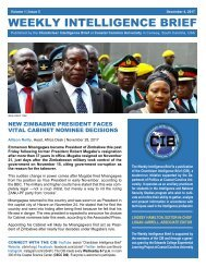 CIB Weekly Intelligence Brief | Vol. 01 | Iss. 05