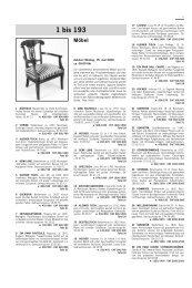 1 bis 193 Möbel - Schuler Auktionen