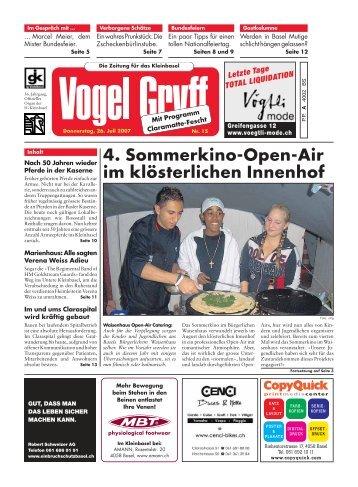 4. Sommerkino-Open-Air im klösterlichen Innenhof - Vogel Gryff
