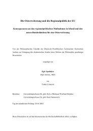 Die Osterweiterung und die Regionalpolitik der EU - RWTH Aachen ...