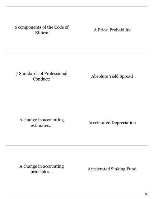 Cfa level 1 equity investments flash card maker shangdi guanqun investment bank