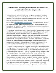 South Bellmore Veterinary Group Review: How to choose a good local veterinarian for your pets