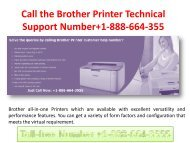 Call the Brother Printer Support Phone Number? @1-888-664-3555