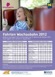 Fahrten Wachaubahn 2012