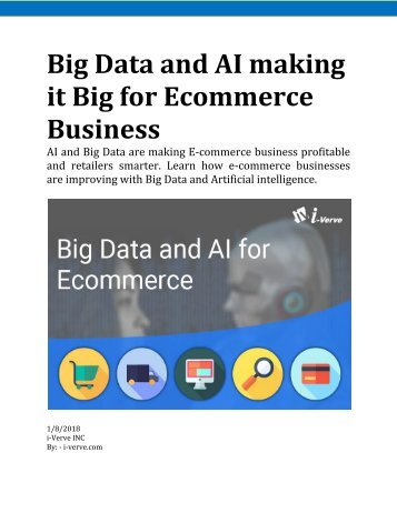 How Big Data and AI add value to your E-commerce business?