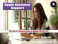 Fix Error Connecting to Apple ID Server Call 1800-582-2431