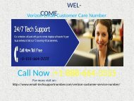 Verizon Email Support Number +1-888-664-3555