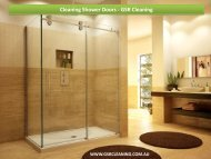 Cleaning Shower Doors - GSR Cleaning
