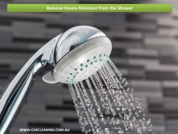 Remove Excess Moisture from the Shower