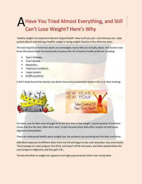 All Natural Weight Loss
