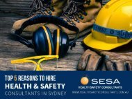 Top Reasons to hire health & Safety Company in Sydney