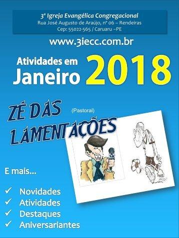 Programação do mês de Janeiro - 3ª IECC