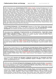 Publikationsliste: Bücher und Kataloge - Christian Reder