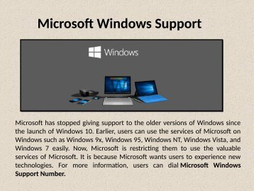 Microsoft Windows Technical Support Number 1-888-909-0535
