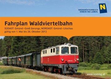 Fahrplan Waldviertelbahn