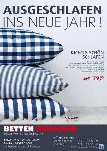 Ausgeschlafen ins neue Jahr - Betten Reinhard Hamm