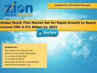 Global Mulch Film market, 2015 – 2021