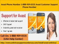 Call 1-888-909-0535 Avast Antivirus Installation Support Number