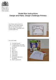 Cereal Box Model Box Instructions