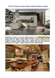 All You Need to Know About Italian Kitchen Design