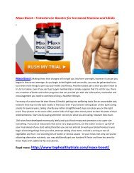 Maxx Boost : Improve your Sexual Performance