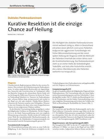 Duktales Pankreaskarzinom - CME-Punkt.de