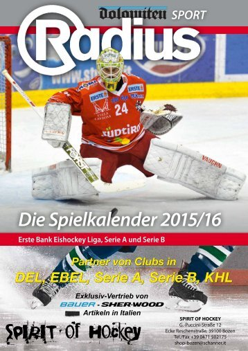 Radius Eishockey Spielplan 15_16