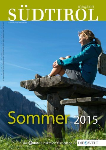 Radius Magazin Sommer 2015