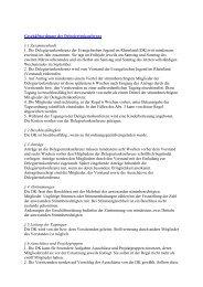 Geschäftsordnung der Delegiertenkonferenz der Evangelischen Jugend im Rheinland