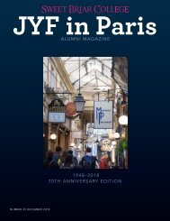 Sweet Briar College JYF in Paris Alumni Magazine - December 2018