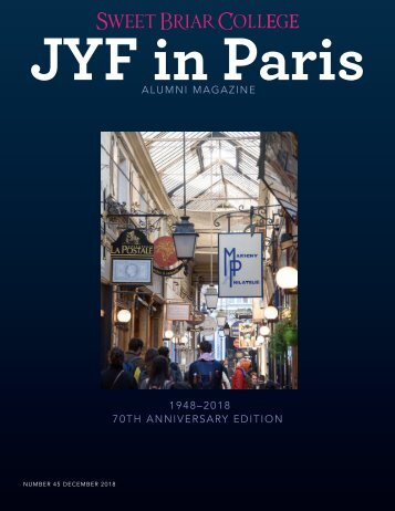 Sweet Briar College JYF in Paris Alumni Magazine - December 2017
