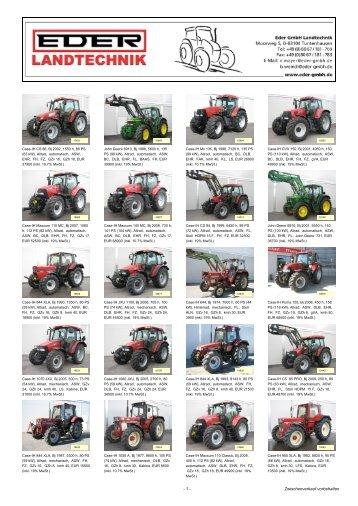 - 1 - Zwischenverkauf vorbehalten - EDER Landtechnik