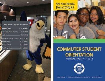 Orientation Commuter Student Schedule Spring 2018
