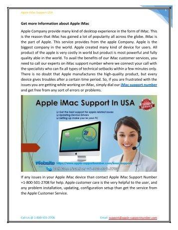 Find Apple iMac Support Number +1-800-501-2708   Apple Support USA