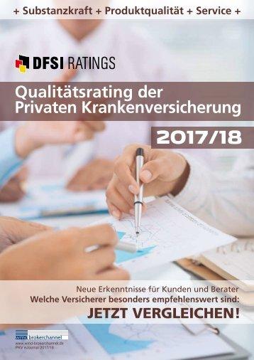 DFSI-Studie / Qualitätsrating der Privaten Krankenversicherung 2017/18