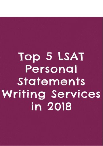 Top 5 LSAT Personal Statements Writing Services in 2018