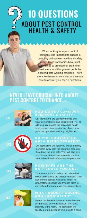 Empire Ltd Pest Control Safety Infographic