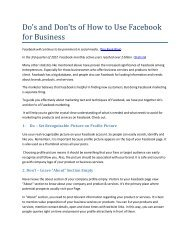 Do's and Don'ts of How to Use Facebook for Business