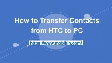How to Transfer Contacts from HTC to PC